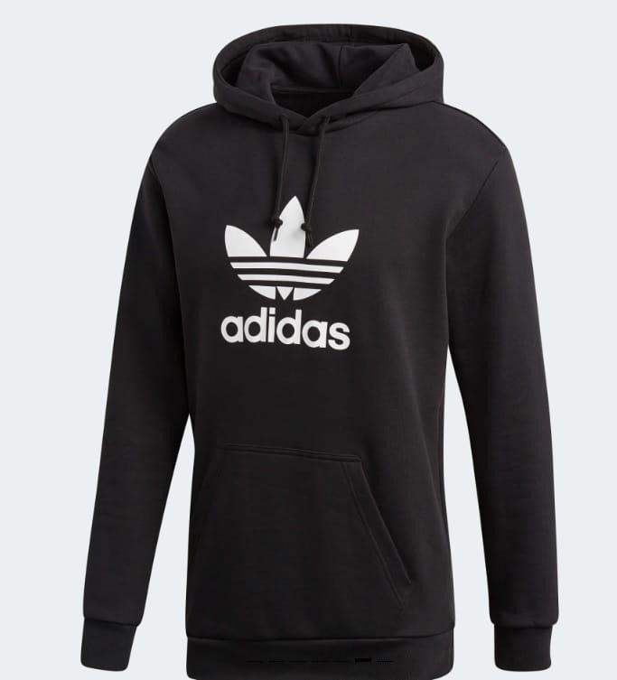 adidas trefoil bluza czarna z kapturem